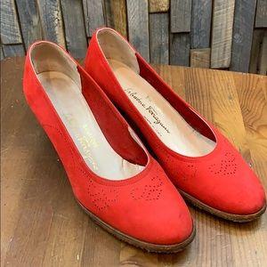 Salvatore Ferragamo Red Heels Sz 7